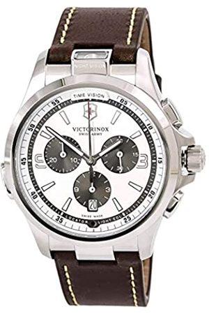 Victorinox Herren Chronograph Quarz Uhr mit Leder Armband 241729