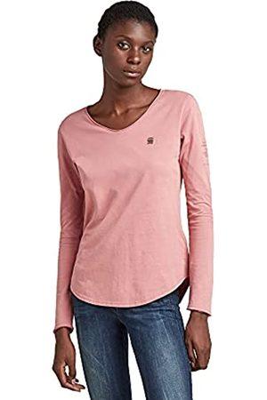 G-Star Womens Rolled Edge Long Sleeve V-Neck T-Shirt