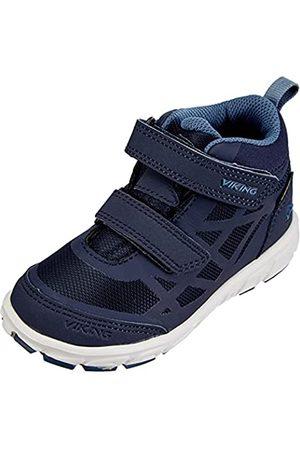 Viking Unisex Kinder Veme Mid R GTX Walking-Schuh, Navy/Demin