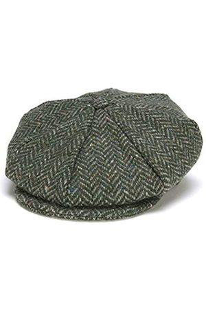 Hanna Hats Of Donegal Hat Eight Piece Irish Flat Cap für Herren Driving Cap Cap Made in Irland 100% Wool Tweed - - XX-Large