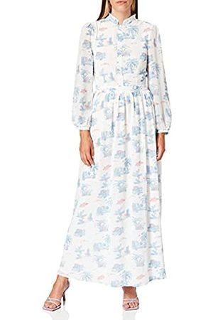 Glamorous Damen Freizeitkleider - Damen Print Button Front Maxi Dress Partykleid