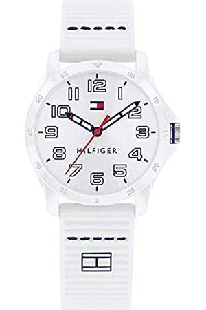 Tommy Hilfiger Unisex Kinder Analoger Quarz Uhr mit Silicone Armband 1791691