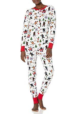 Hatley Little Blue House by Damen Adult Union Suit Pyjama Set