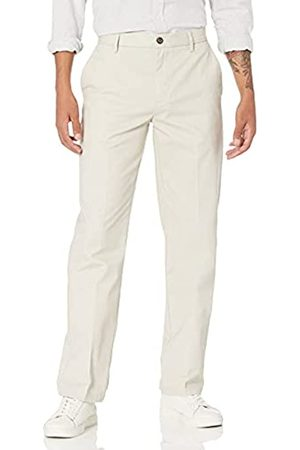 Amazon Classic-Fit Wrinkle-Resistant Flat-Front Chino Pant Unterhose, Beige (Stone)