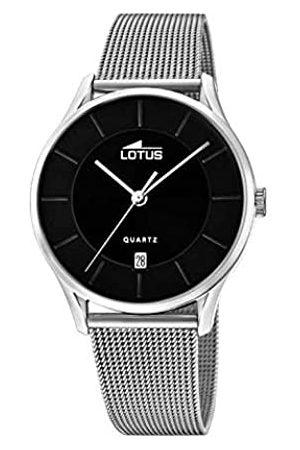 Lotus Uhrenmodell18405/DausderMinimalist-Kollektion39mmschwarzesGehäusemitStahlarmbandfürHerren18405/D