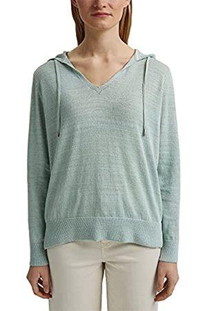 Esprit Leinen/Organic Cotton: V-Neck Hoodie