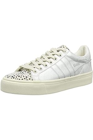 Gola Damen Orchid Ii Cheetah Sneaker, Elfenbein (Off White/Silver Wj)