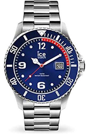 Ice-Watch ICE steel Blue silver - Blaue Herren/Unisexuhr mit Metallarmband - 015771 (Medium)