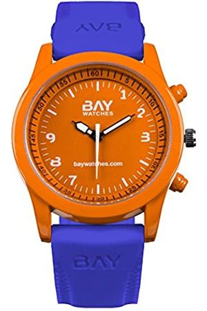 Bay watches BayWatches – fürHerrenundDamenORANGEundBLAU-ArmbanduhrAnalogSouthBeachvsVenice