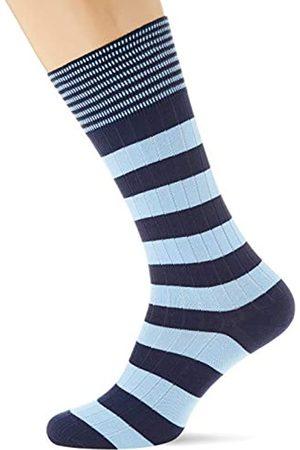 Hackett Herren Socken INCH Stripe, Mehrfarbig (Navy/Sky 5da)