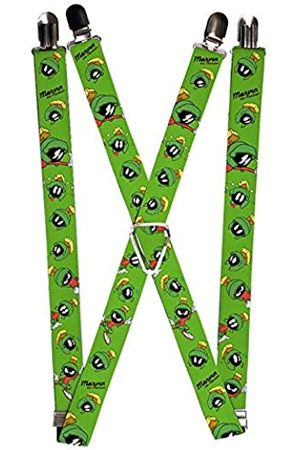 Buckle Herren Suspenders - Marvin The Martian W/poses/expressions Green Strumpfhalter
