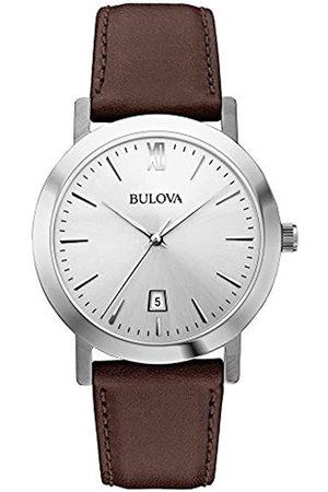 BULOVA Herren Analog Quarz Uhr mit Leder Armband 96B217