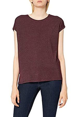 VERO MODA Damen VMLAVA Plain SS TOP Strip GA NOOS T-Shirt