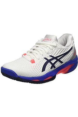 Asics Damen Solution Speed FF 2 Clay Tennis Shoe, White/Peacoat