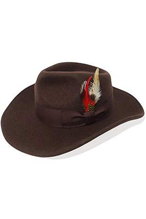 Different Touch Herren 100% knautschbarer Wollfilz Outback Cowboy Indiana Jones Fedora Hüte - - L/XL