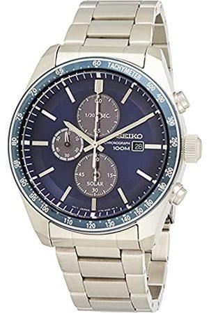 Seiko Solar Chronograph Herren-Uhr Edelstahl mit Metallband SSC715P1
