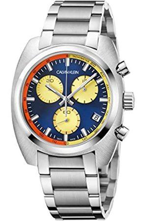 Calvin Klein Herren Chronograph Quarz Uhr mit Edelstahl Armband K8W3714N