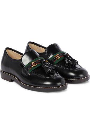 Gucci Mädchen Halbschuhe - Loafers GG aus Leder