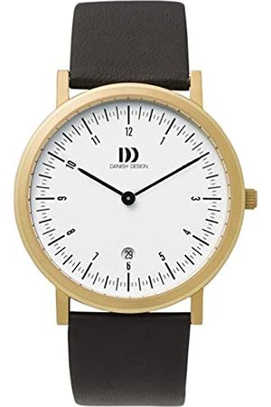 Danish Design Herren Analog Quarz Uhr mit Leder Armband IQ15Q820
