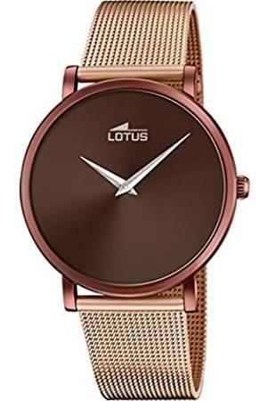Lotus Herren Analog Quarz Uhr mit Edelstahl Armband 18774/1