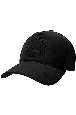 Wisconsin Harley-Davidson Harley-Davidson Men's Tonal Willie G Skull Logo Snapback Baseball Cap - Black
