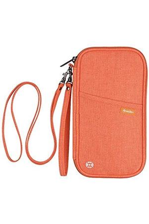 homchen RFID-blockierende Reisepasshülle, Familien-Reisepass-Halter, Dokumenten-Organizer-Tasche mit Handgelenk und Hals