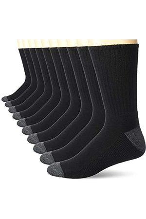 Amazon 10-Pack Cotton Half Cushioned Crew Socken (Black)