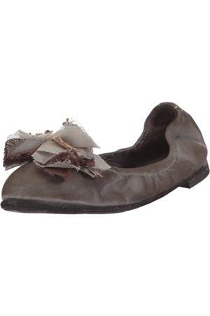 Pantofola d'Oro Pantofola D´ORO Ballerina Elastic Nappa + Fiore BL29F-D, Damen, Ballerinas, (SMOG 45)