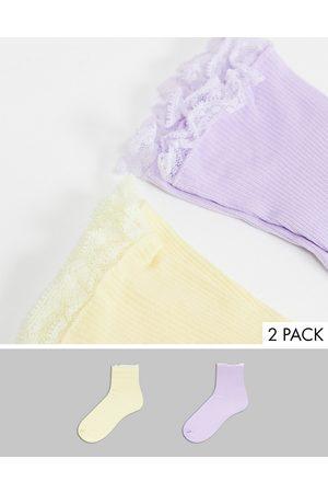 Gipsy – Weiße Socken mit Rüschendetail