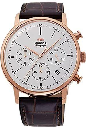 Orient Herren Analog Japanisches Quarzwerk Uhr mit Leder Armband RA-KV0403S10B