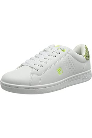Fila Damen Crosscourt 2 A wmn Sneaker, White/Sunny Lime