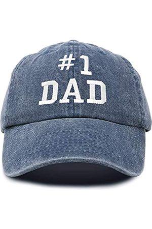 DALIX #1 Dad Hat Nummer One Vintage Baumwolle Baseball Cap - - Einstellbar
