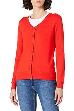 Mexx Womens Round Neck Susan Cardigan Sweater, Red