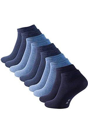 STARK SOUL 10 Paar Essentials Sneaker Socken, Baumwolle, Blautöne