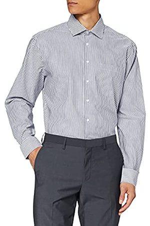 Seidensticker Herren Modern Fit Langarm mit Business Kent-Kragen Bügelfrei Gestreift-100% Baumwolle Businesshemd