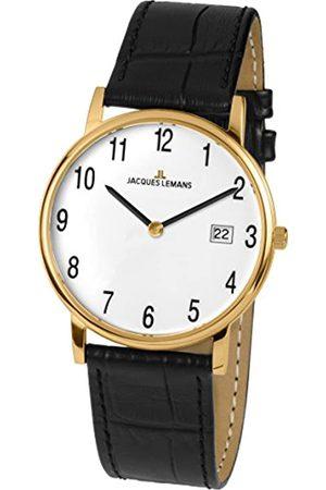 Jacques Lemans Unisex Analog Quarz Uhr mit Leder Armband 1-1848D