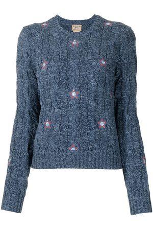 Polo Ralph Lauren Damen Strickpullover - Pullover mit Blumenstickerei