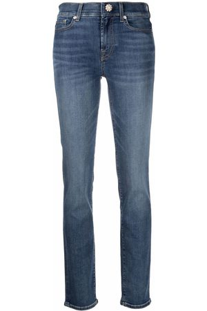 7 for all Mankind Halbhohe Skinny-Jeans