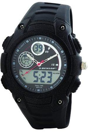 Dunlop Herren Digital Quarz Uhr mit Gummi Armband DUN235G03