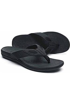 MEGNYA Orthopädische Flip-Flops für Herren bei Plantarfasziitis, athletische Zehensteg-Sandalen mit Fußgewölbeunterstützung, bequeme Walking-Tanga-Hausschuhe für sportliche Aktivitäten, W1-pure