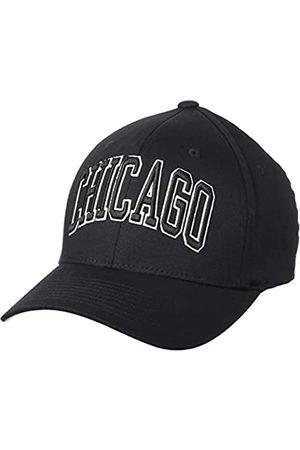 STARTER BLACK LABEL Unisex Flexfit Kappe mit Chicago-Stick auf der Vorderseite, Fitted Baseball Cap, Schirmunterseite Grau