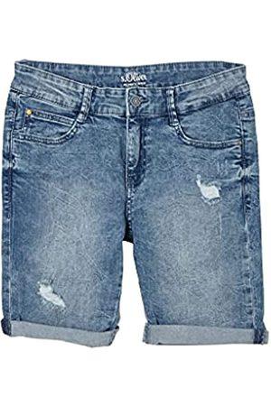 s.Oliver Jungen Slim Fit: Jeans-Bermuda mit Destroyes blue 170.REG