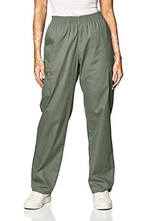 Dickies Damen-Skrubs-Hose mit elastischer Taille - Grün - X-Groß