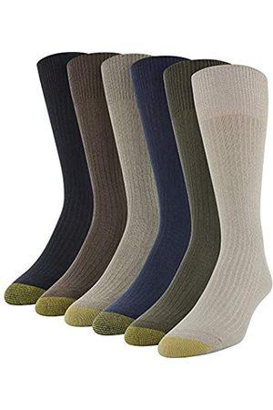 Gold Toe Herren Stanton Crew, Multipairs Klassische Socken