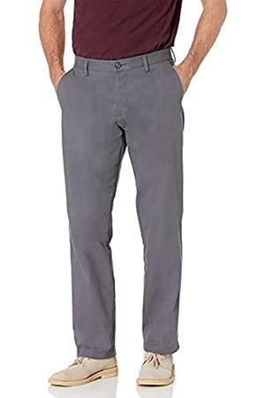 Amazon Classic-Fit Wrinkle-Resistant Flat-Front Chino Pant Unterhose (Grey)