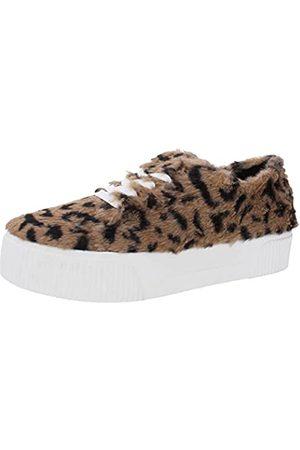 Jessica Simpson Womens Edda Sneaker, Natural Leopard