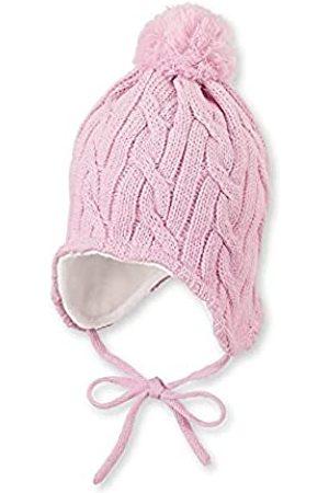 Sterntaler Mütze für Mädchen mit Bommel und Zopfstrickmuster, Gefüttert mit Baumwoll-Fleece, Alter: 2-4 Jahre