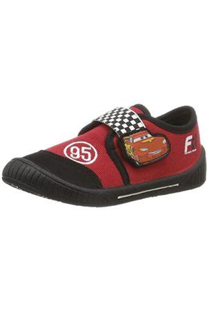 Cars Jungen Boys Kids Velcro Low Houseshoes Pantoffeln, Mehrfarbig (Black/RED/Black 074)