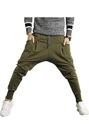 PRIJOUHE Herren Jogger Sweatpants Low Crotch Sweats Slim Fit Hose Harem Hip Hop Pants - - Mittel