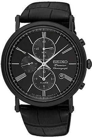 Seiko Herren Analog Quarz Uhr mit Leder Armband 8.43124E+12